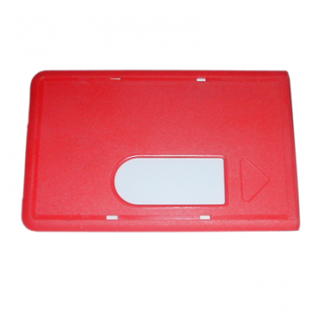 Red magnetic card case