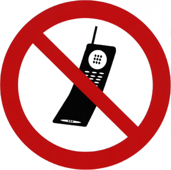 No Cellphone allowed